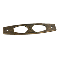 Base Plate - 115mm - Antique Brass Trum