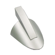 Arrow Hook - White Aluminium Coloured
