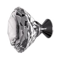Cabinet Knob - 30mm - Clear Crystal/Chrome - DELUXE