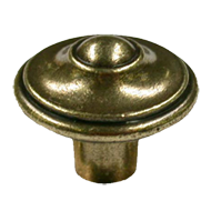 Antique Brass Trumbled Knob