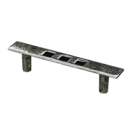 RIO COLLECTION Cabinet Handle - 134mm - Polished Antique Silver Finish