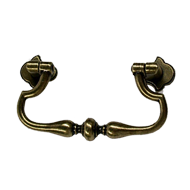 Cabinet Pull - 84mm - Antique Brass Tru