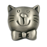 Antique Cat Kids Cabinet Knob