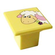Yellow Colour Sheep Design Kids Cabinet