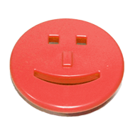 Kids Cabinet Smiley Knob in Red Color