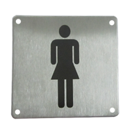 Female Sign Plate - 100X100mm - Stainless Steel Finish