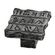 Hieroglyphics furniture Knob in Antique