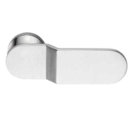 ICE Lever Handle on Rose in Polished Ch