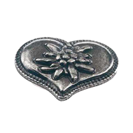Heart Cabinet Knob - 52mm -  Antique Si