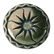 Cabinet Knob - 44mm -  Antique Brass Tr