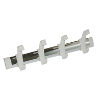 Hook Rail - Bright Silver & White Colour