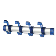 Hook Rail - Aluminium & Blue