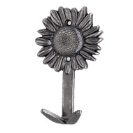 Daisy Towel Hook - Antique Silver Finis