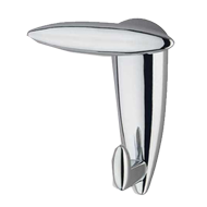 Streamline Coat Hook - Polished Chrome Finish