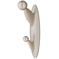 Streamline Modern Two Bead Hook - Matt