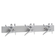 Hook Rail - 400mm - Matt Chrome Finish