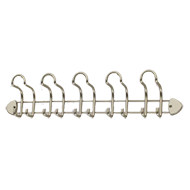 Hook Rail - 560mm - Matt Nickel Finish