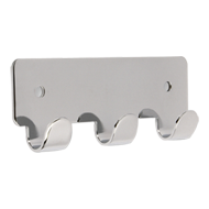 Hook Rail - 114mm - Bright Chrome Finish