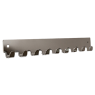 Hook Rail - 366mm - Bright Chrome Finish