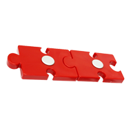 Kids Cabinet Double Puzzle Handle in Re