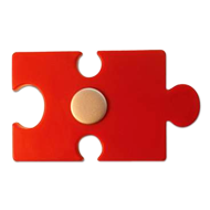 Puzzle Kids Knob in Red Colour