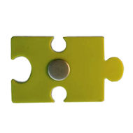 Kids Cabinet Puzzle Knob in Green Color