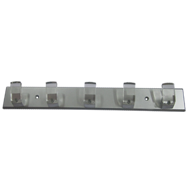Hook Rail - Aluminium Transparent with