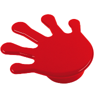 Kids Hand Shape Cabinet Handle in Red Color From Misr