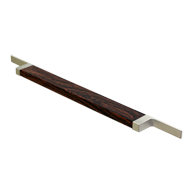 Profile Cabinet Handle - 318mm - Nickel (Wooden)
