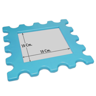 Kids Photo Frame Cabinet Knob in Blue Color with From Misr