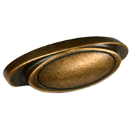 Cabinet Handle - 80mm -  Antique Brass