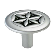 Cabinet Knob - 40mm - Matt Chrome and Black Finish