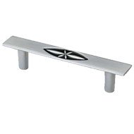 Cabinet Handle  - 134mm - Matt Chrome & Black Finish