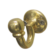 Robe Hook in C Shape - Gold Finish