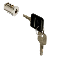 Cylinder Core  - 1 Flap Key - Brass Nickel Plated Finish
