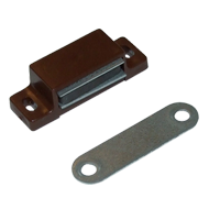 Magnetic Catch - 4-5kgs holding power PVC brown with counter-plate - Brown Colour