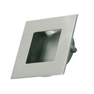 INN - Cabinet Flush Knob - Inox Look Finish - 50mm