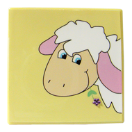 Kids Sheep Decorative - Yellow Colour with Strass Stone
