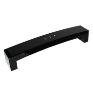 Cabinet Handle - 170mm - High Gloss Black with Crystal Finish