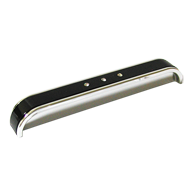 Cabinet Handle + Insert - 152mm - High Gloss Black with Bright Chrome Finish