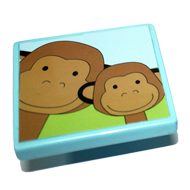 Monkey design Sky Blue Cabinet Knob