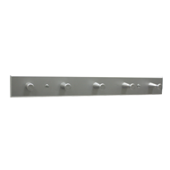 Hook Rail Base Plates - White Aluminium
