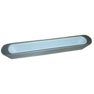 Cabinet Handle - 156mm - High Gloss White with Bright Chrome Finish