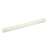 Cabinet Handle - 180mm -  White with Crystal Finish