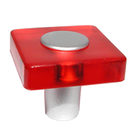 Red Transparent Colour Furniture Knob