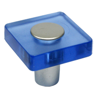 Cabinet Knob in Blue Transparent Colour