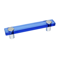 Cabinet Handle in Blue Transparent Colo