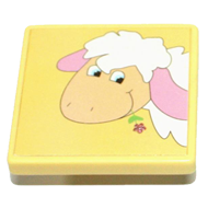 Yellow Sheep Kids Cabinet Knob