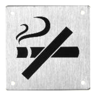 No Smoking Signages -  5x11/2 Inch