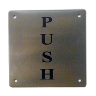 Signages - 4X4 Inch Assorted - Stainless Steel Finish